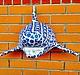"""Интерьерные  маски ручной работы. Акула """"Shark"""". Byratinkina. Интернет-магазин Ярмарка Мастеров. Shark, art, детская, зубы, handmade"""