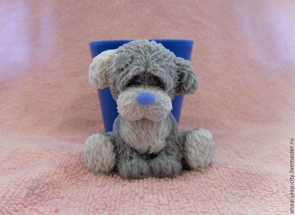 Silicone mold for soap 'Puppy friend, Teddy Bear', Makeup tools, Arkhangelsk,  Фото №1