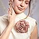 Броши ручной работы. Заказать Пыльная роза из войлока. Брошь.. Лена Баймут (Baymut). Ярмарка Мастеров. Нейтральный, цветы для невесты