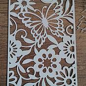 Материалы для творчества handmade. Livemaster - original item !Cutting for scrapbooking -BACKGROUND-magic Garden butterfly-with frame. Handmade.