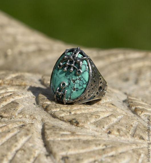"""Кольца ручной работы. Ярмарка Мастеров - ручная работа. Купить Серебряное кольцо с бирюзой """"Navis"""". Handmade. Бирюза, унисекс, insilver"""