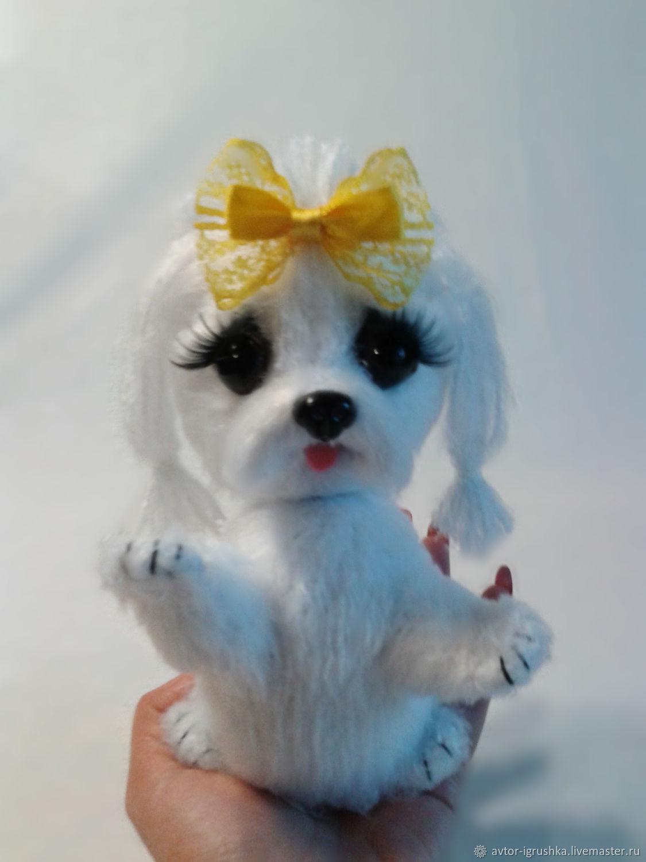 Вязаная собака, Мягкие игрушки, Невинномысск,  Фото №1