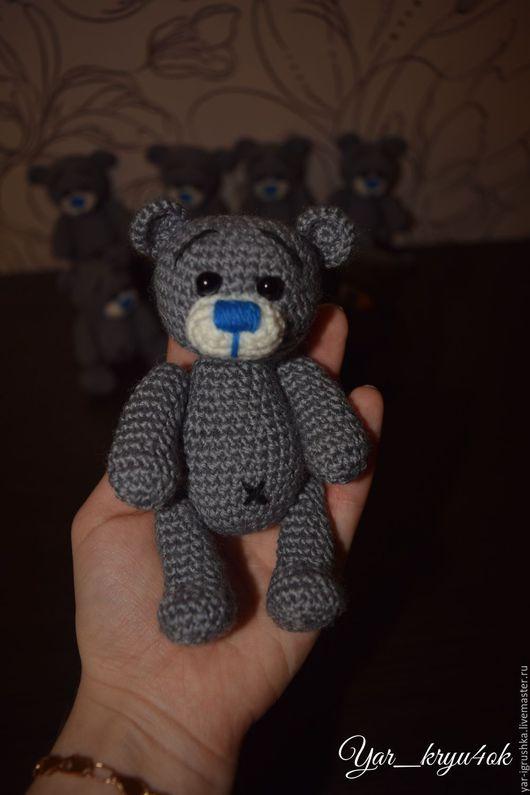 Мишки Тедди ручной работы. Ярмарка Мастеров - ручная работа. Купить Мини мишки. Handmade. Серый, крючком, друг