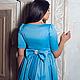 """Платья ручной работы. Для Вас! Атласное платье """"Мальвина"""". Авторская одежда Ksenya Shishkina. Интернет-магазин Ярмарка Мастеров."""