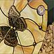 Часы для дома ручной работы. Витражные часы крыльями бабочки Застывшее мгновение. Техника тиффани.. Glass Bubble (Надежда Авдеева). Интернет-магазин Ярмарка Мастеров.
