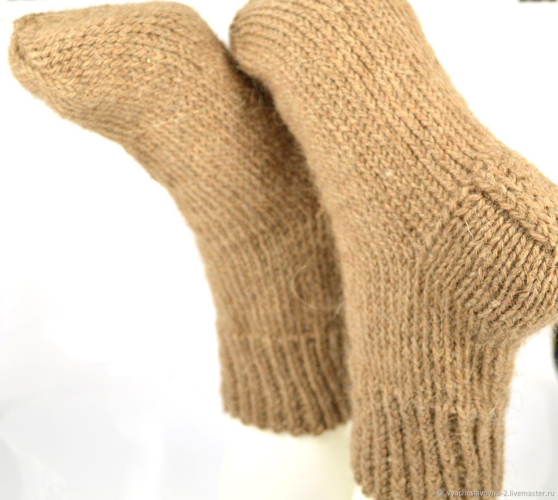 Простые шерстяные носки, из верблюжьей шерсти, Носки, Москва,  Фото №1