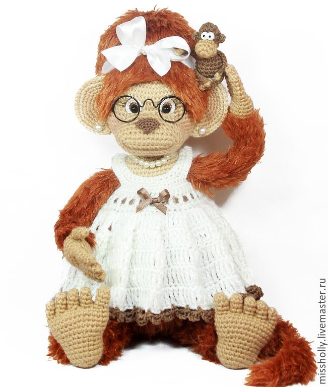 игрушка вязаная обезьянка