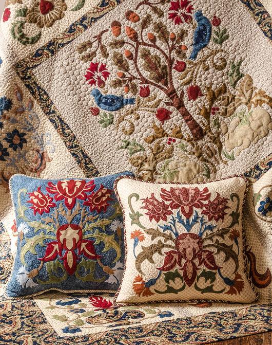 Текстиль, ковры ручной работы. Ярмарка Мастеров - ручная работа. Купить Одеяло Узоры Морриса, дизайн Michele Hill. Handmade.