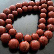 Материалы для творчества handmade. Livemaster - original item Jasper red beads the beads are 10mm and 12mm. Handmade.