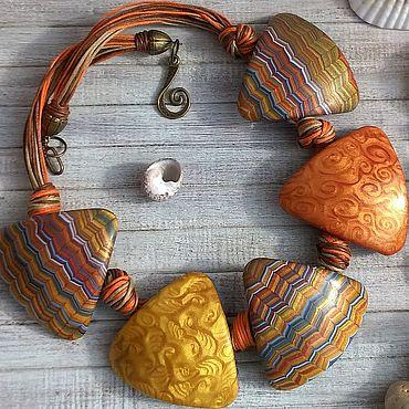Decorations handmade. Livemaster - original item BOHO jewelry sets AFRICA. Necklace, earrings and bracelet.. Handmade.