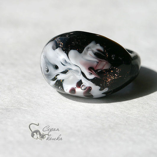 """Кольца ручной работы. Ярмарка Мастеров - ручная работа. Купить Кольцо """"Призраки"""". Handmade. Черный, готика"""