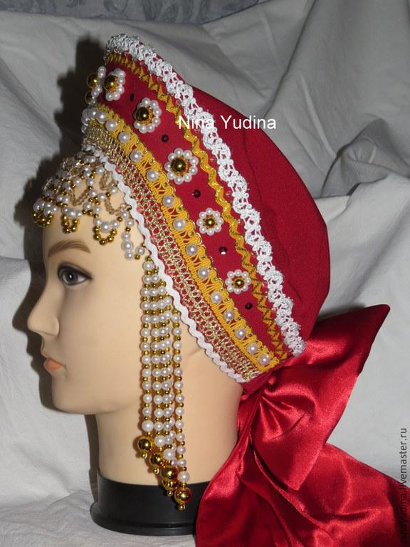 Кокошник для русского народного костюма своими руками