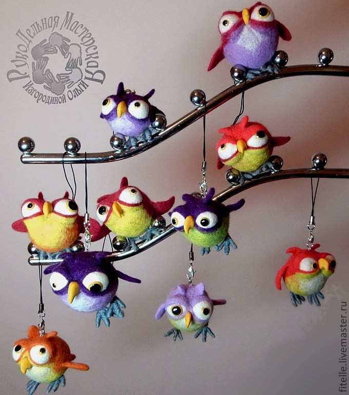 Keychain 'Owlet', Stuffed Toys, Kalachinsk,  Фото №1