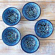 Посуда ручной работы. Ярмарка Мастеров - ручная работа Набор керамических соусниц (5 шт) (бирюза). Handmade.