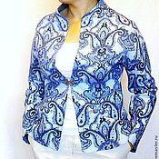 """Одежда ручной работы. Ярмарка Мастеров - ручная работа Валяный жакет из шёлка """"Цветы Севера """". Handmade."""