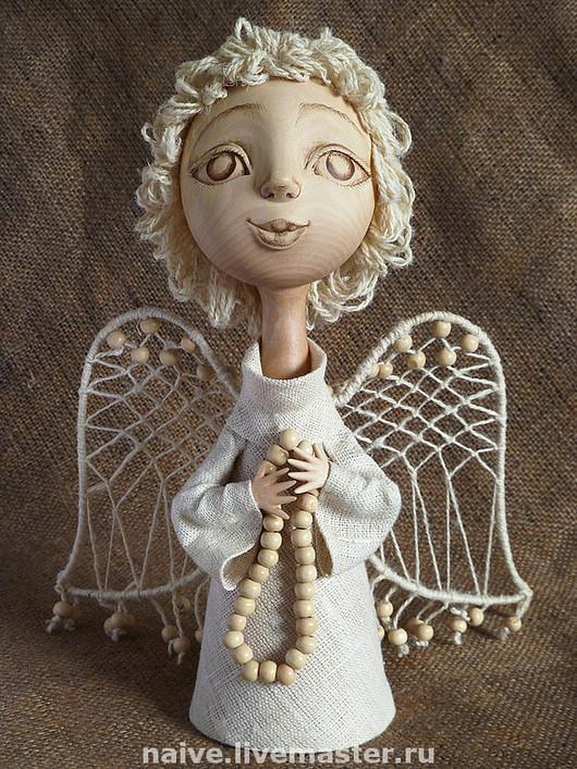 """Сказочные персонажи ручной работы. Ярмарка Мастеров - ручная работа. Купить """"Наивный ангел с чётками"""". Handmade. Оригинальный подарок"""