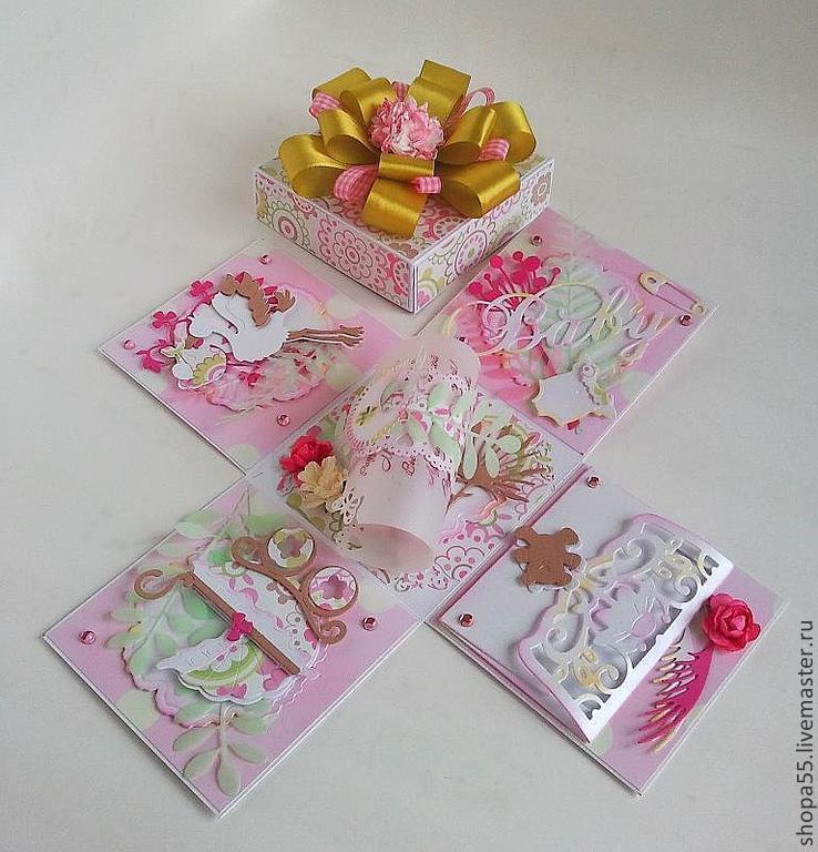 Купить Открытка- коробка с днем рождения Сиренево-желтая 87
