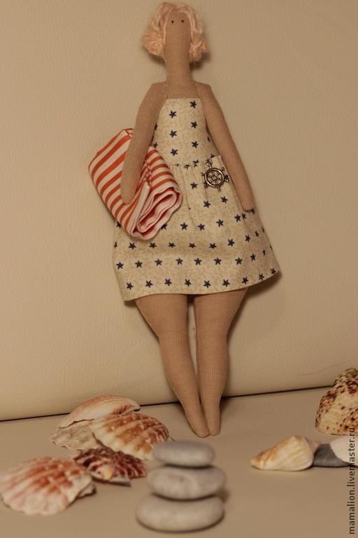 Куклы Тильды ручной работы. Ярмарка Мастеров - ручная работа. Купить Тильда купальщица. Handmade. Бежевый, море, подарок