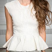Одежда handmade. Livemaster - original item Felted sheath dress with peplum. Handmade.