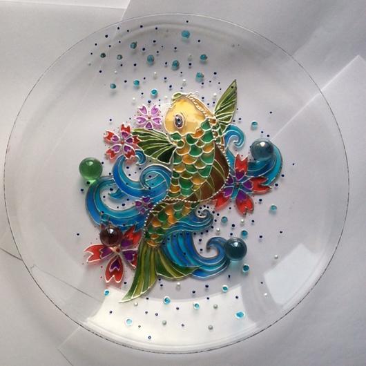 Тарелки ручной работы. Ярмарка Мастеров - ручная работа. Купить Тарелка декоративная Рыбка. Handmade. Тарелка декоративная, тарелка
