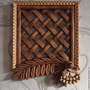 Для дома и интерьера ручной работы. Ярмарка Мастеров - ручная работа Декоративная вентиляционная резная деревянная решетка. Handmade.