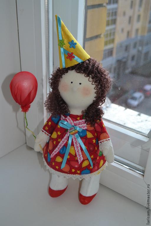 Коллекционные куклы ручной работы. Ярмарка Мастеров - ручная работа. Купить Кукла  малышка. Handmade. Ярко-красный, настроение, халлофайбер