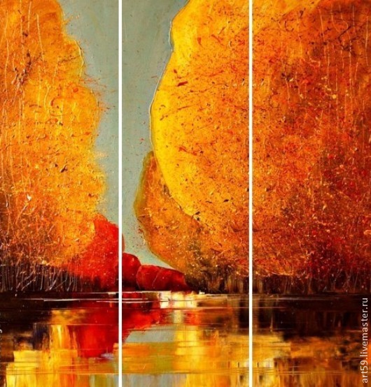Triptych ' Golden autumn', Pictures, St. Petersburg,  Фото №1