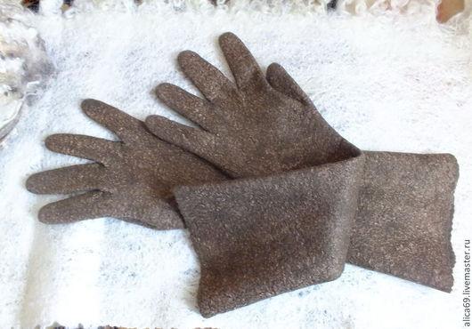 Варежки, митенки, перчатки ручной работы. Ярмарка Мастеров - ручная работа. Купить Валяные перчатки...Тепло ль тебе девица... Handmade.