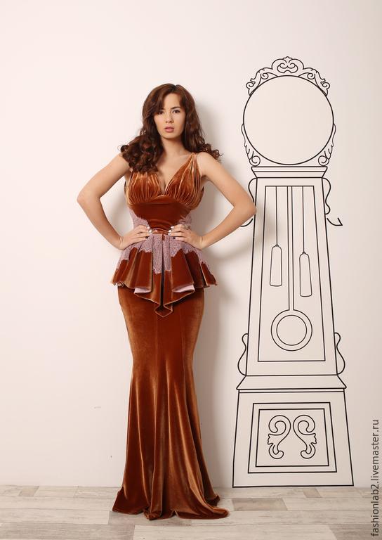Бархатное платье стильное на праздник