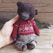 Куклы и игрушки ручной работы. Ярмарка Мастеров - ручная работа Мишка в скандинавском свитере. Handmade.