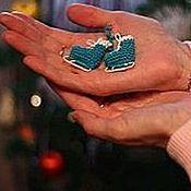 Подарки к праздникам ручной работы. Ярмарка Мастеров - ручная работа Коньки - елочное украшение. Handmade.