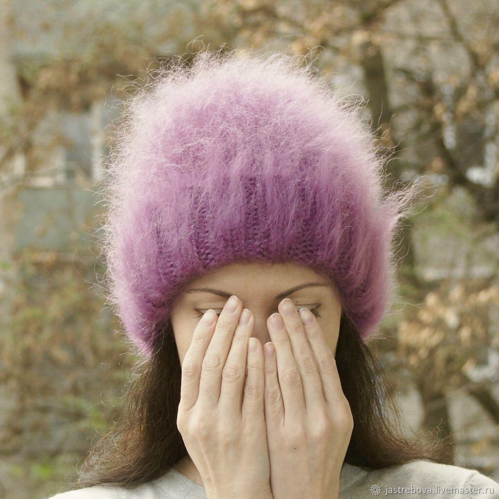 шапки из мохера спицами схемы фото нагромождение