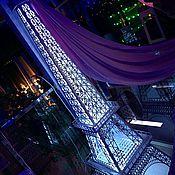 Статуэтки ручной работы. Ярмарка Мастеров - ручная работа Эйфелевая башня Париж с подсветкой. Handmade.