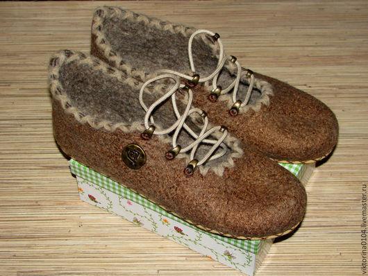 """Обувь ручной работы. Ярмарка Мастеров - ручная работа. Купить Туфельки домашние  """"Комфорт"""""""". Handmade. Домашняя обувь, микропора"""