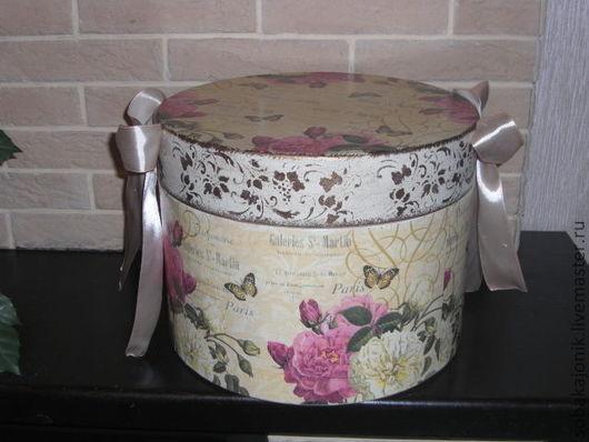 """Корзины, коробы ручной работы. Ярмарка Мастеров - ручная работа. Купить Шляпная коробка """"Парижанка"""". Handmade. Короб, шляпная коробка"""