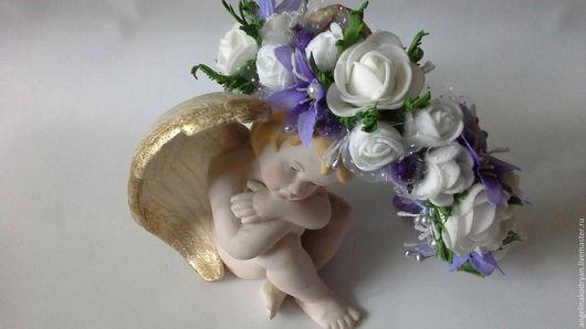 Детская бижутерия ручной работы. Ярмарка Мастеров - ручная работа. Купить Ободок с фиолетовыми цветами и ягодами. Handmade. Фиолетовый