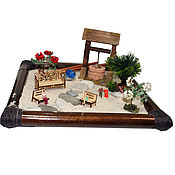 Картины и панно ручной работы. Ярмарка Мастеров - ручная работа Японский садик Колодец. Handmade.