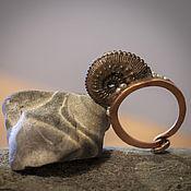 Украшения ручной работы. Ярмарка Мастеров - ручная работа Медное кольцо Улитка. Handmade.
