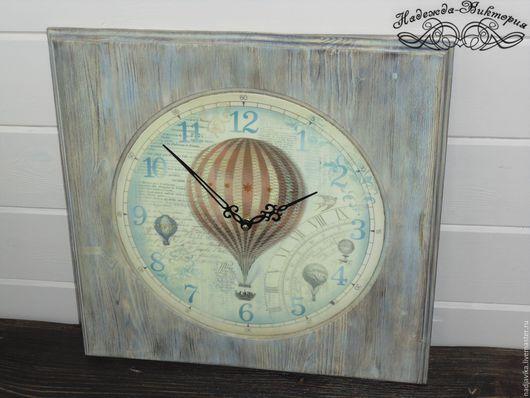 """Часы для дома ручной работы. Ярмарка Мастеров - ручная работа. Купить Часы настенные """"В небеса"""". Handmade. Часы настенные"""