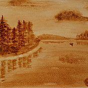 Картины ручной работы. Ярмарка Мастеров - ручная работа Картина Берега Белого моря. Handmade.