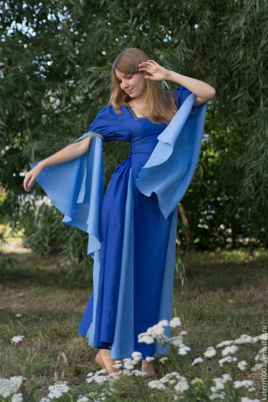 Платья ручной работы. Ярмарка Мастеров - ручная работа. Купить Платье-трансформер 4в1. Handmade. Синий, эльф, карнавал