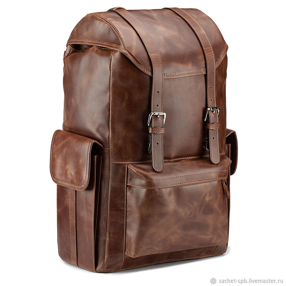 Leather backpack 'Hannibal' (brown crazy), Backpacks, St. Petersburg,  Фото №1