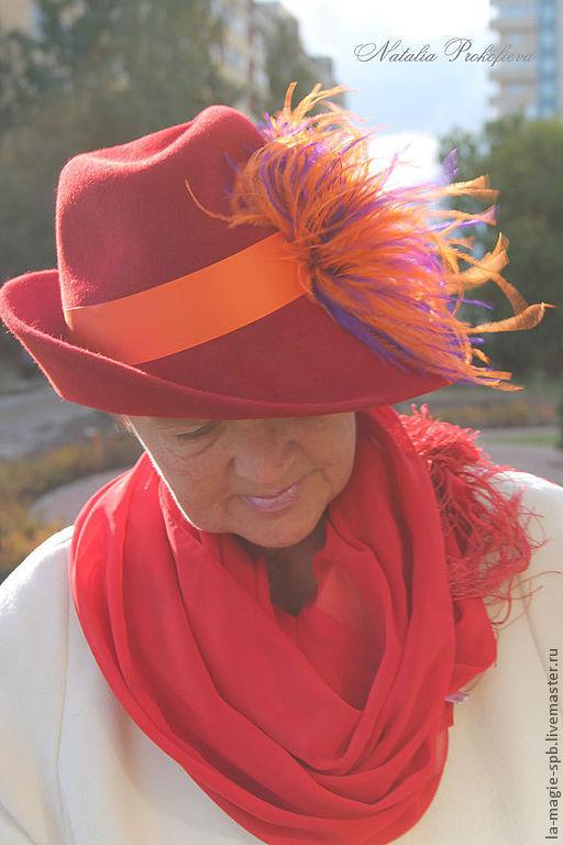 """Шляпы ручной работы. Ярмарка Мастеров - ручная работа. Купить Осенняя шляпа """"L'etude d'automne"""" (Осенний этюд).. Handmade. Шляпа"""