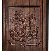 Нарды, шашки ручной работы. Ярмарка Мастеров - ручная работа Нарды, шашки Георгий Победоносец (орех)  (14917). Handmade.