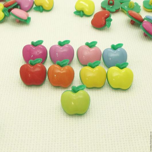 """Шитье ручной работы. Ярмарка Мастеров - ручная работа. Купить Пуговицы """"Яблоко"""" 17 мм. Handmade. Детские пуговицы"""