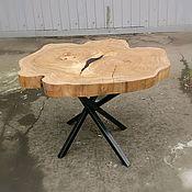 Столы ручной работы. Ярмарка Мастеров - ручная работа Стол  89см х75см журнальный из спила Вяза. Handmade.
