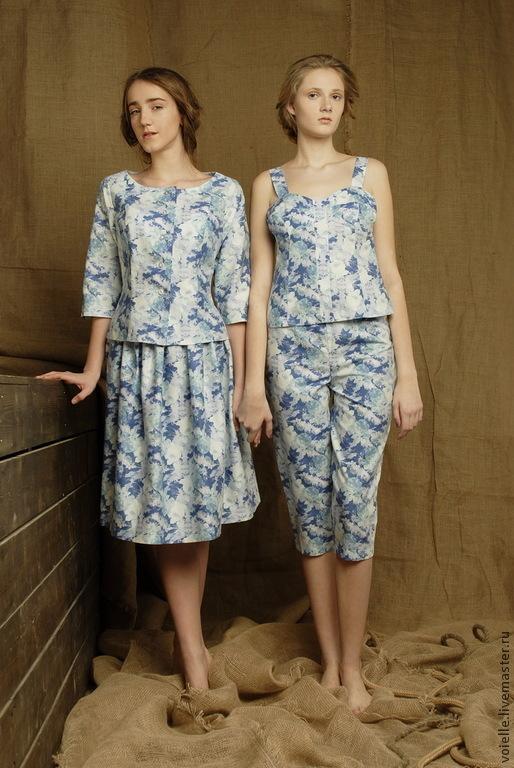 Женские костюмы из льна летние