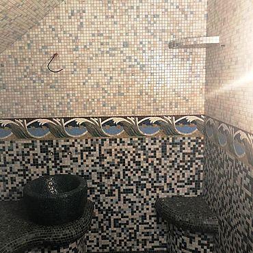 Для дома и интерьера ручной работы. Ярмарка Мастеров - ручная работа Мозаика и бордюр для хамам. Handmade.