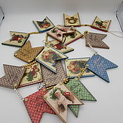 Подарки к праздникам handmade. Livemaster - original item Garland of flags. Handmade.