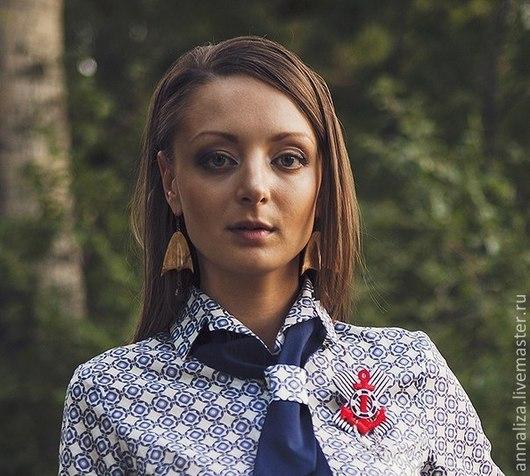"""Блузки ручной работы. Ярмарка Мастеров - ручная работа. Купить Блузка в стиле 50-х """"Стильный галстук"""". Handmade."""